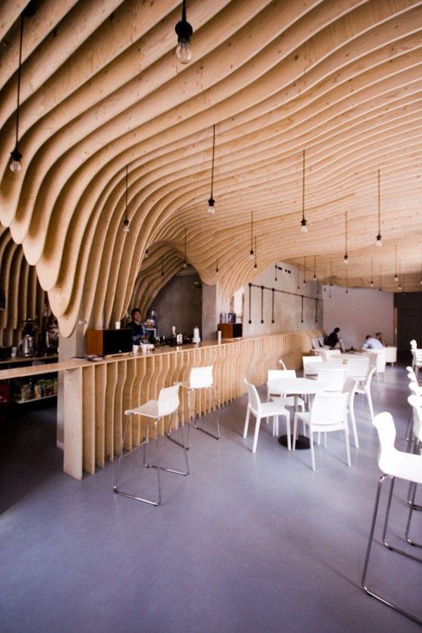 Wood cave Restaurant Zmianatematu in Poland
