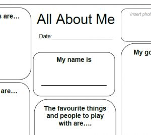 """All About Me Template  ECEC Quality Designed brings you simple and quick methods to gather information from families.  The """"All About Me"""" Template brings together the important information about children in your care that families will bring.  Use the All About Me template to form an initial form of information to build your educational and care program for each child.  http://designedbyteachers.com.au/marketplace/all-about-me-pdf-assists-in-nqs-eylf-ecec-ldc-oshc-oosh-fdc-qip/"""