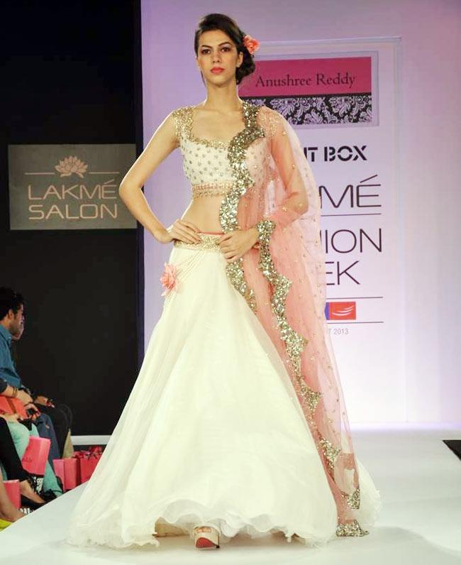 Beautiful #Lehenga by Anushree Reddy http://thesplurge.net/ Hyderabad @ Lakme Fashion Week SR 2013