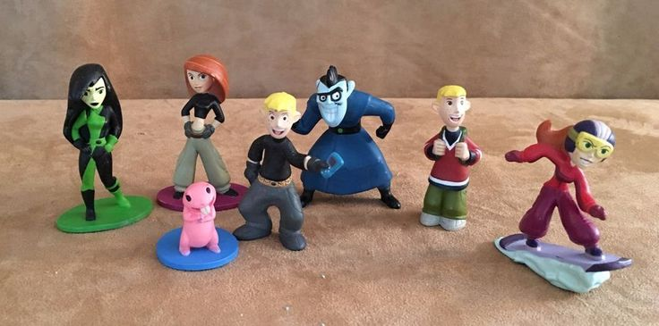 Kim Possible Disney pvc action figure lot store rufus ron cake topper #Disney
