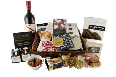 Gift Food and Wine Basket   <3  <3