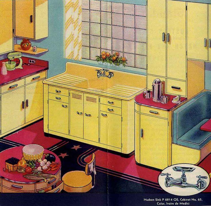17 Best Ideas About 1940s Kitchen On Pinterest