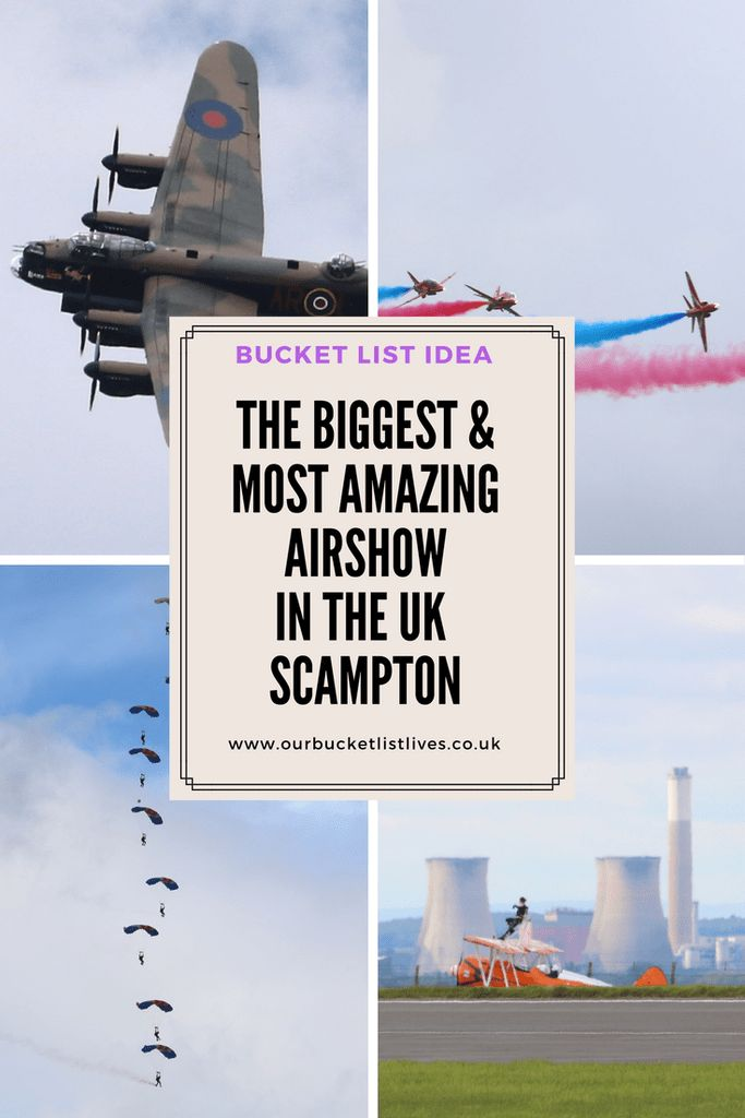 The Biggest and most amazing Air show in the UK. My review of RAF Scampton Airshow 2017. Family day out in Lincolnshire. Lancaster, red arrows and more. #airshow2017 #airshow #lincolnshire #dayout #family #familytravel #redarrows #scamptonairshow