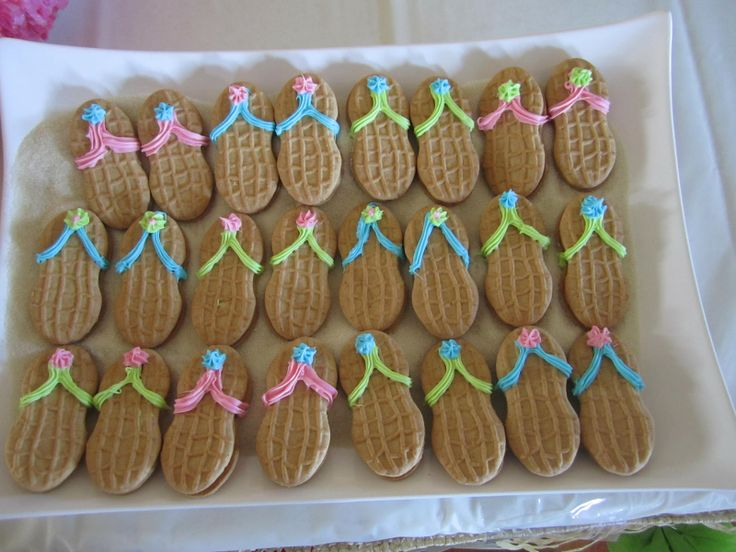 nutter butter flipflops | CLB CeLeBrations!: A Hawaiian Birthday For Two