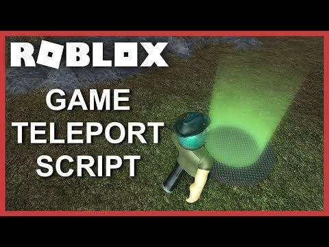 ROBLOX Tutorial] - Game Teleport Script (Teleport to other