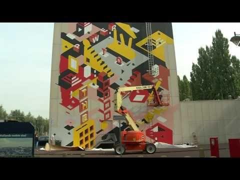 Muurschildering op Stadskantoor in Dordrecht is af - YouTube
