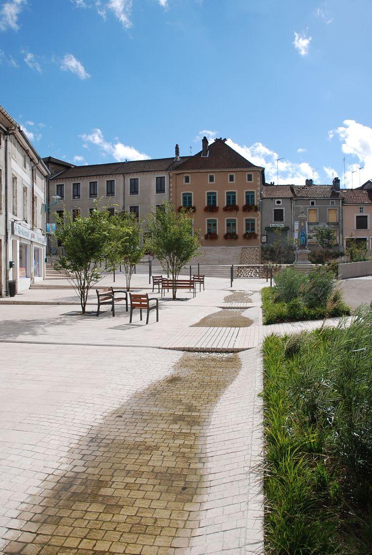 Implementing curb into design - Fontaine ville de Gondrecourt | France | BLD Water Design |