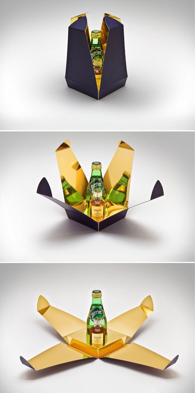 brilliant packaging design, love the gold, reminds me of the alien movie.