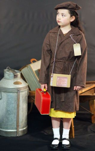 Details About 1940 S Ww2 Wartime Evacuee Girl Brown Coat