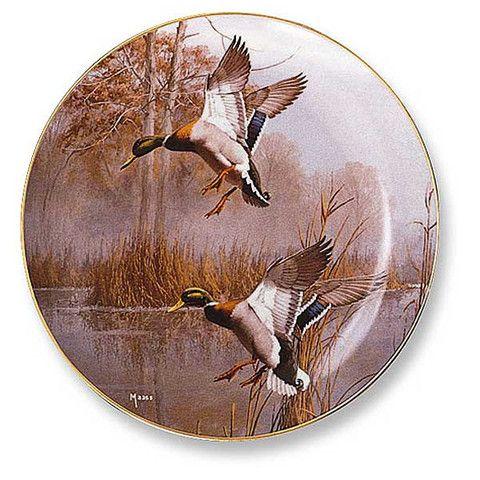 Wild Wings Misty Morning Mallard Decorative Plate