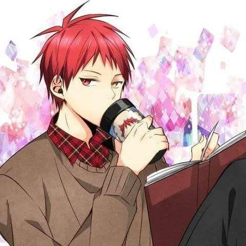 Akashi Seijuro Kuroko no Basket red hair yellow eyes anime boy