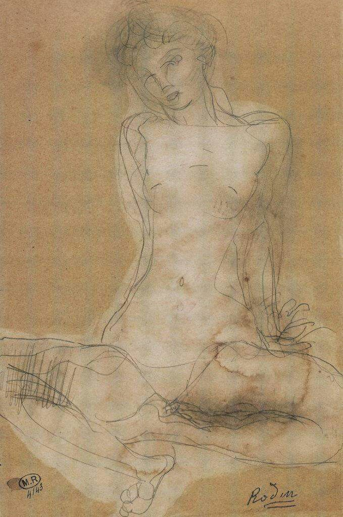 Auguste Rodin - Drawing 4143