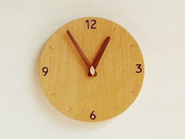直径24cm 掛け時計 オーク【1711】 - ramuneyo|木の生活道具