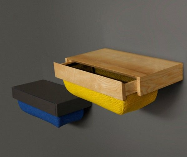 Fun and Colorful Drawer with Textile Container