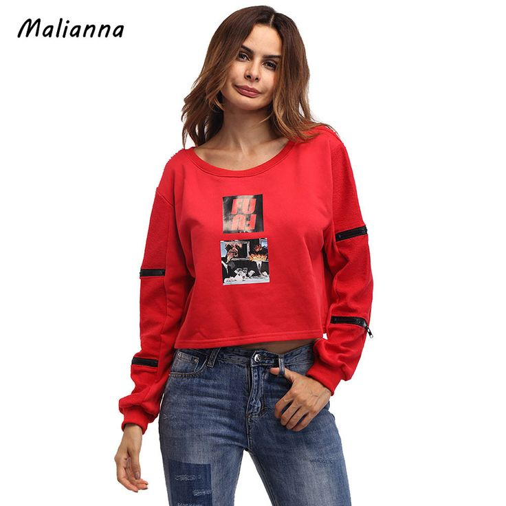 Find More Hoodies & Sweatshirts Information about Women Hoodies Sweatshirt 2017 Fashion O Neck Red Printed Zipper Decoration Loose Fleece Loose Pulloers Plush Female One Size,High Quality woman fashion hoodies,China women hoodies Suppliers, Cheap women hoodies sweatshirts from malenna Store on Aliexpress.com