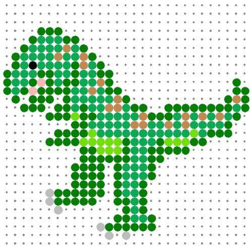 Tyrannosaurus Rex Perler Bead Pattern