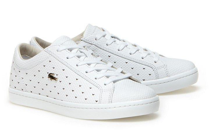 Sneakers Straightset Lacoste en cuir piqué punché