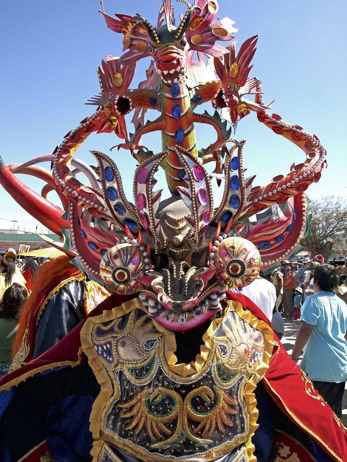Fiesta Religiosa de La Tirana en Iquique, Chile.