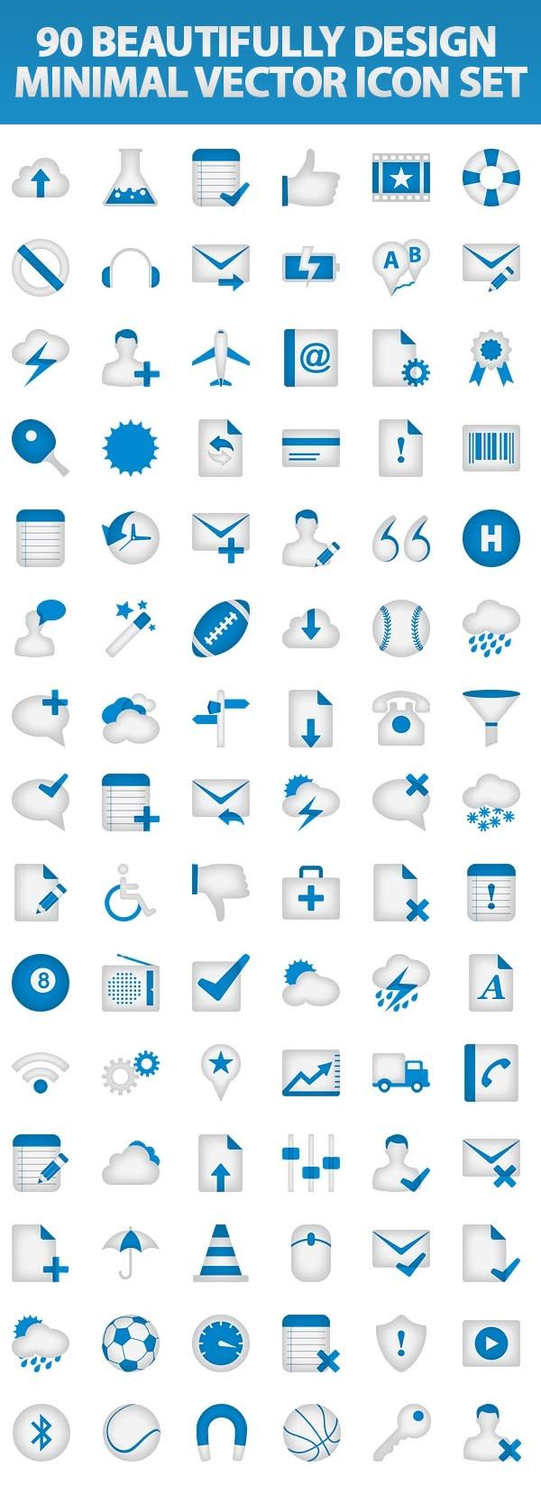 Today freebie is minimal vector icon set perfect to design Web apps interfaces.