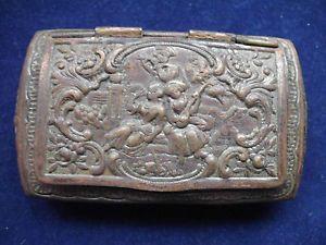 antike-Schnupftabakdose-um-1900-Kupfer-Sammlerstueck-Dose-Schatulle-Schachtel-Box - Snuff box