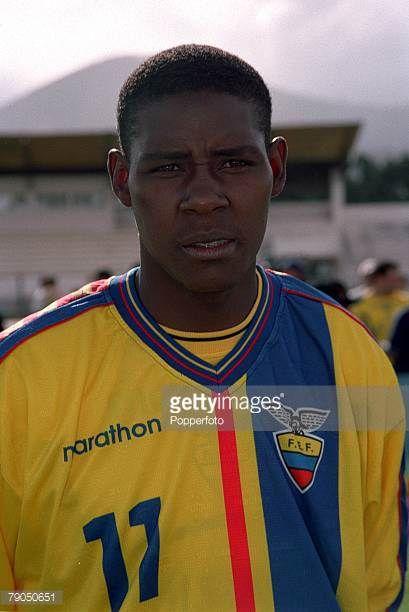 Football 2002 World Cup Qualifier South American CONMEBOL Group 24th April 2001 Quito Ecuador 2 v Paraguay 1 Ecuador's Agustin Delgado