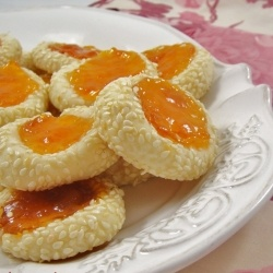 Apricot Sesame Seeds CookiesApricot Almighty, Desserts Leaders, Cookies Food, Sesame Seeds, Seeds Cookies, Sweets Tooth, Food Recipe, Cookies Artsandcrafts, Apricot Sesame