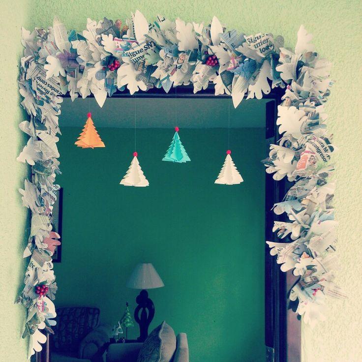 #Guirnalda, #christmas idea, fácil y barata de elaborar