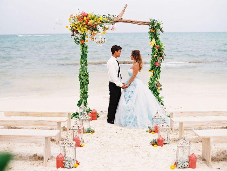 18 Inspirações para cerimônias de casamento na praia - Salve a Noiva