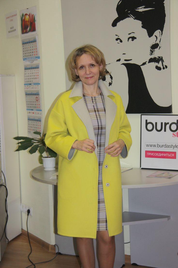 Отчет о пальто из ткани Дабл (двуслойной). Пальто без подкладки с потайными швами c карманом Max Mara / Фотофорум / Burdastyle