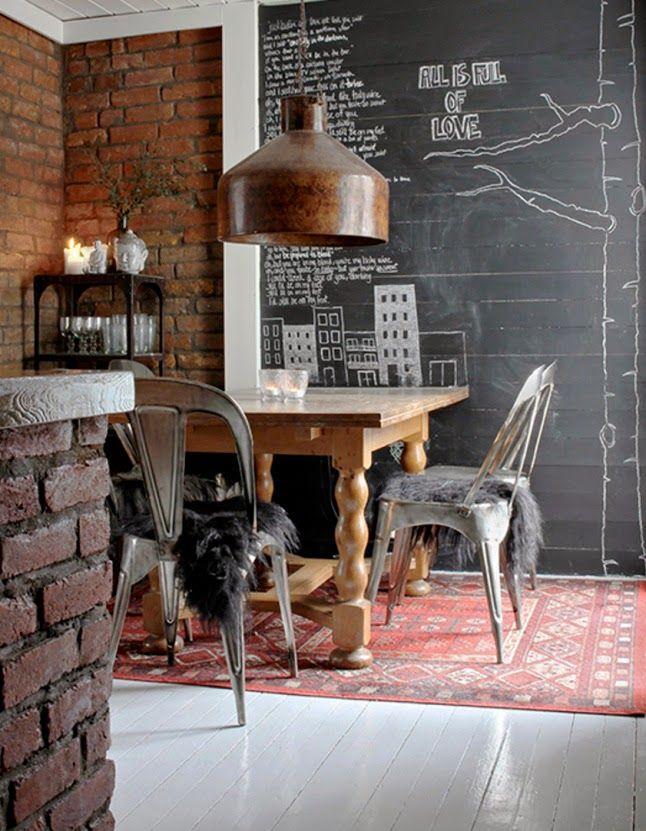 vm designblogg industrial dining roomsindustrial loftfrench - Industrial Vintage Wohnhaus Loft Stil