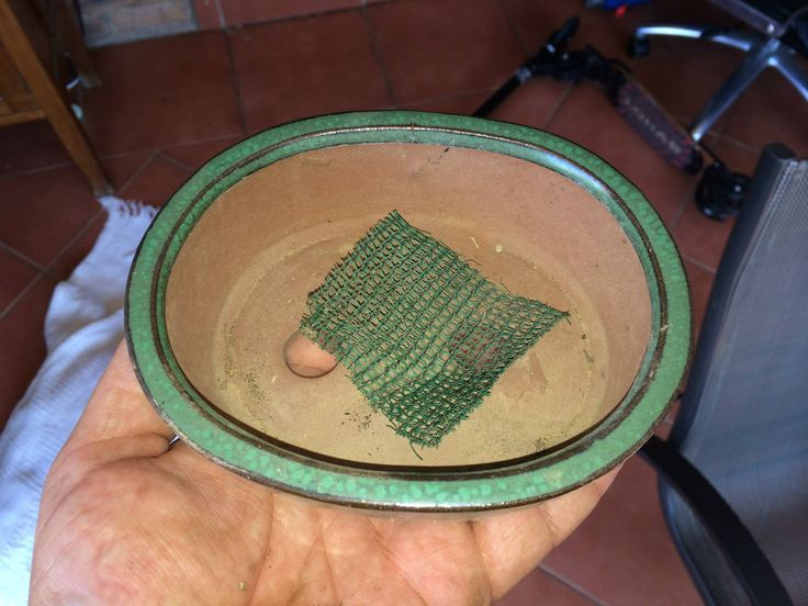 Fine Mesh to cover the hole so that the soil does not drain through