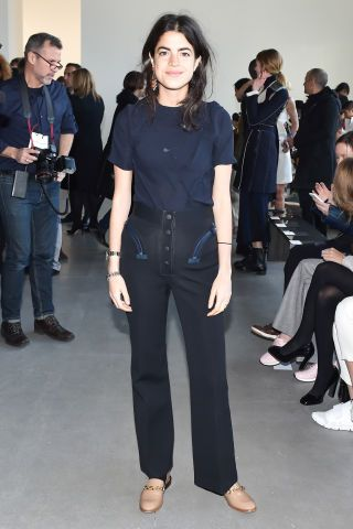 Leandra Medine at Calvin Klein Collection