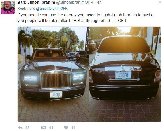 """Jimoh Ibrahim's reply to those blasting him for calling GEJ """"a notorious robber"""" http://ift.tt/2pevpRf"""