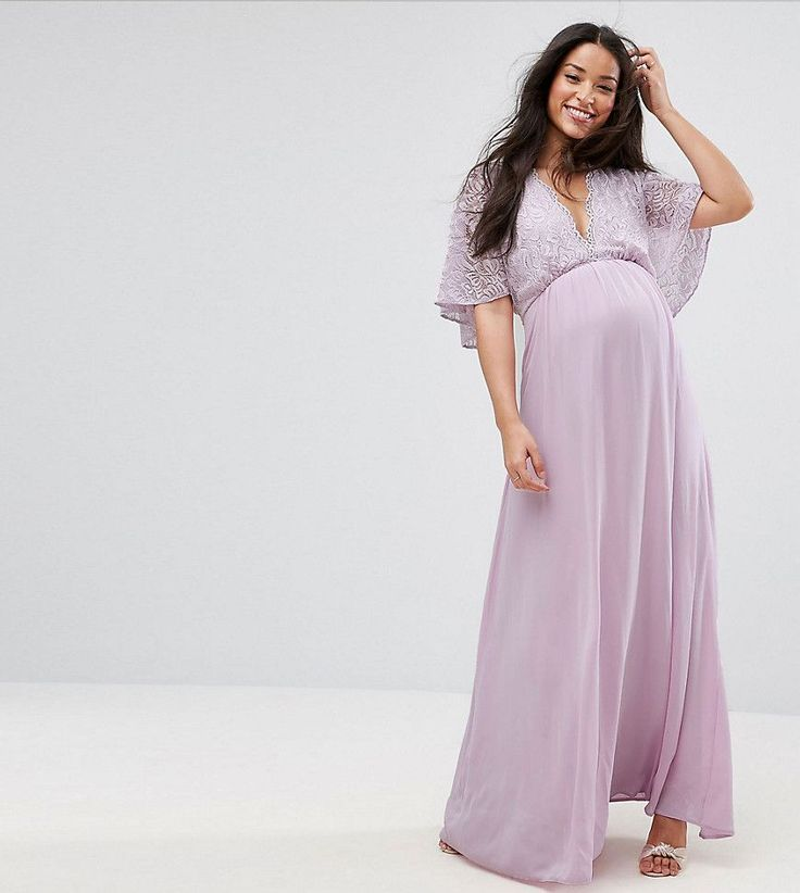 Get this Queen Bee's cotton dress now! Click for more details. Worldwide shipping. Queen Bee Maxi Dress With Fluted Lace Sleeve - Purple: Maternity dress by Queen Bee, Lightweight woven fabric, Plunge neck, Lace top, Zip-back fastening, Regular fit - true to size, Designed to fit through all stages of pregnancy, Hand wash, 100% Polyester, Our model wears a UK 8/EU 36/US 4 and is 173cm/5'8 tall. London label Queen Bee turns catwalk styles and red-carpet looks into a collection of feminine…
