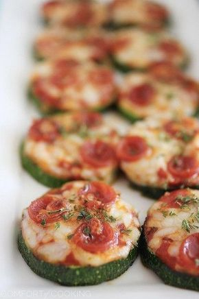 "Zucchini Pizza Bites. Tried and true! It was Perfect for my little three year old who just found out she is allergic to gluten. She missed pizza, her favorite food, but when I gave this to her, she said to me, ""Tis goooooood pitza, mommy"" lol! It really tastes like pizza, so its cool."