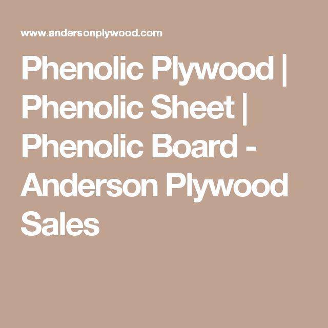 Phenolic Plywood   Phenolic Sheet   Phenolic Board - Anderson Plywood Sales