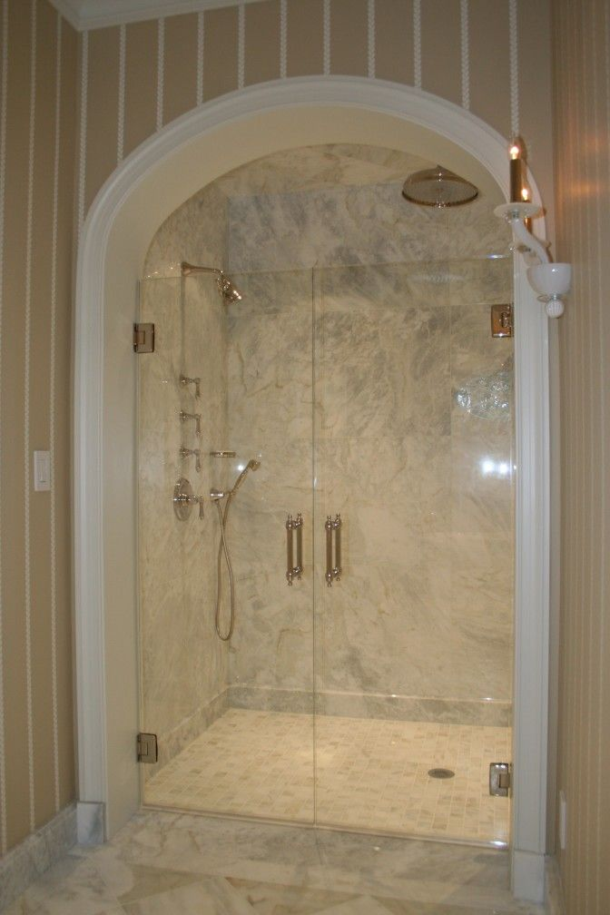 Cool Double Shower Design Assorted Styles And Appliances: Magnificent Bi  Fold Swing Frameless Shower Door With Chrome Free Standing Double Shower  Rain Head ...