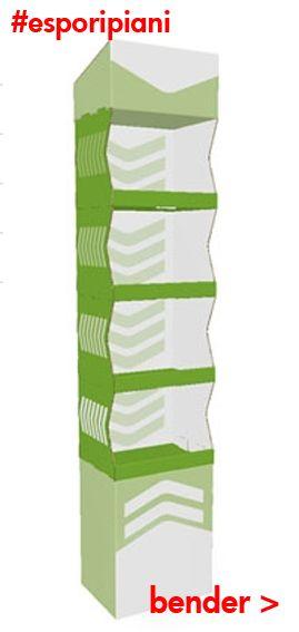 http://goo.gl/T7wK7B Bender ___ Espositore Modulare a ripiani senza incollatura Dimensioni:409,00 x 310,00 x 1.938,00mm (LxWxD)4,50mm (spessore) adatto per patatine, snack , e prodotti alimentari
