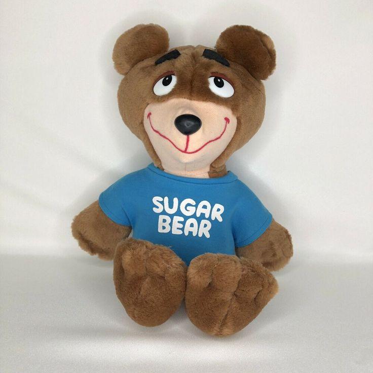 Sugar Bear Plush Post Cereal Golden Crisp Mascot Vintage