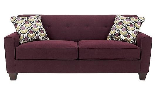 eggplant sofa leather furniture manufacturers danielle living room purple