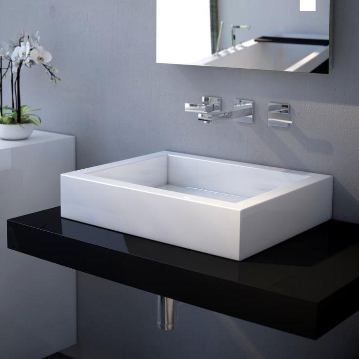 die besten 25 waschbecken ohne hahnloch ideen auf pinterest badezimmer berlauf. Black Bedroom Furniture Sets. Home Design Ideas