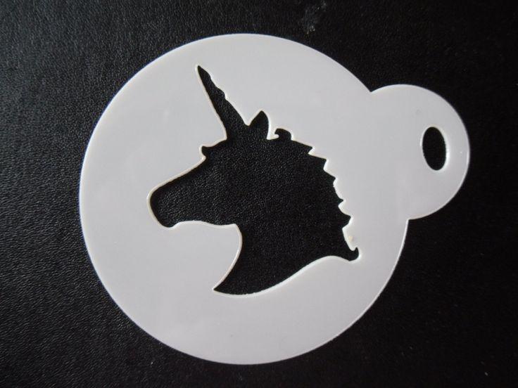 Unique bespoke new laser cut unicorn head cookie / face painting stencil