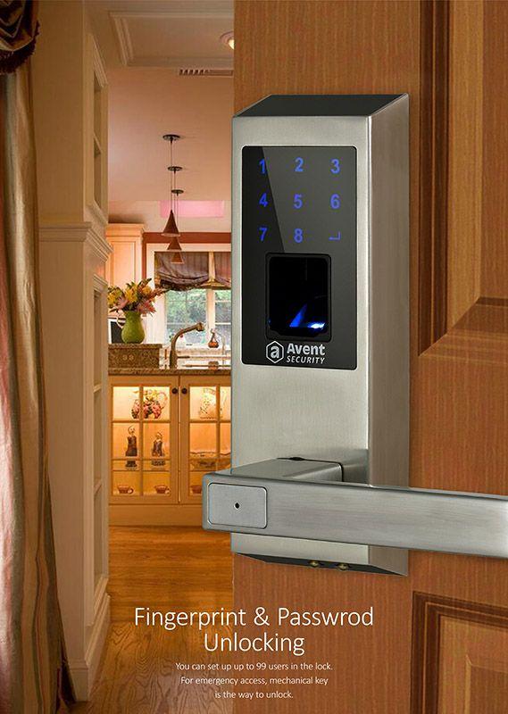 Avent Security M400 Fingerprint Scanner Door Lock With