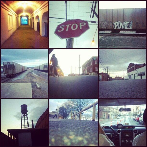 Collage exploring the city of Danville, VA.