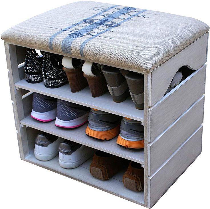 Liza Line Schuhorganizer Mit Gepolstertem Sitz 6 Paar Schuhe