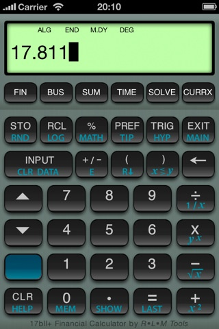 17BII Financial Calculator iPhone and iPad app by RLM Software - financial calculator