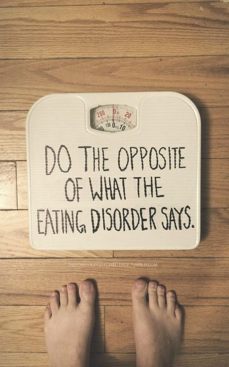 Always. Disagree, defy, and disobey. The eating disorder voice is always wrong. #edrecovery #EatingDisorders