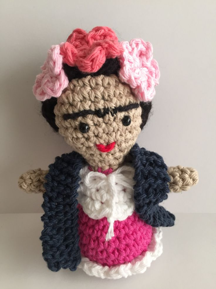 Frida Kahlo amigurumi, Frida crochet, Frida amigurumi,Frida doll, Doll by Sanaya321 on Etsy