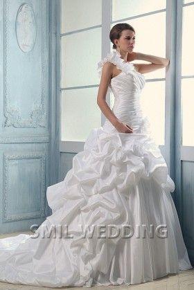 http://www.smilwedding.nl/prinses-trouwjurk-a-lijn-ivoor-satijn-een-schouder-trein-rechter-sftj2014261.html