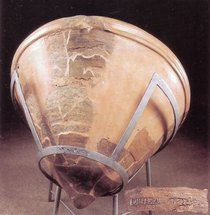 Decebalus per Scorilo, large pottery container from Sarmizegetusa, stamped;